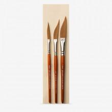 Pro Arte :Lot de 3 Pinceaux : Traçage de Ligne : Petit, Médium et Large