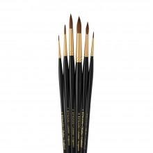 Pro Arte : Sablene : Brush Wallet Set of 6 : 0-2-4-6-8-10 Round
