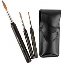 Da Vinci : Maestro : Kolinsky Sable Travel Brush Set of 3 in Case : Series 1503