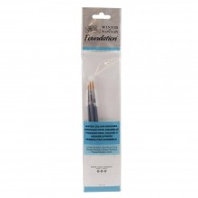 Winsor & Newton : Foundation : Kit Pinceaux Aquarelle : SH Rond 2, 4 & 7