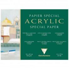 Clairefontaine :Bloc Papier : Papier Acrylique :  35x45cm : 10 Feuilles : 360g : Grain Fin