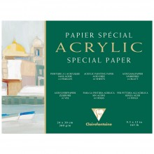 Clairefontaine :Bloc Papier : Papier Acrylique :  9.5x12in : 10 Feuilles : 360g : Grain Fin