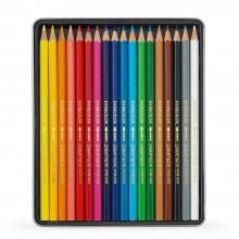 Caran d'Ache : Swisscolor : Crayon Soluble à l'Eau : Boite en Métal de 18
