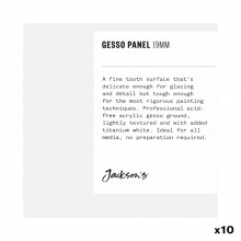 Jackson's : 19mm White Gesso Cradled Painting Panel : 4x4in : Box of 10