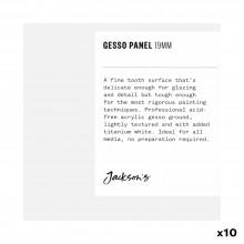 Jackson's :Panneau à Peinture Cracquelé en Plâtre Blanc de 19 mm: 4x4in : Boite de 10
