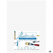 Multimedia Artboard : Pastel Artist Panel : 0.8 mm : 320 Grit : 5 Pack : 9x12in : White