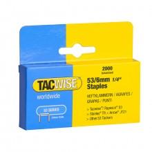 Tacwise :Série 54 Agrafes: 6mm : Boîte de 2000