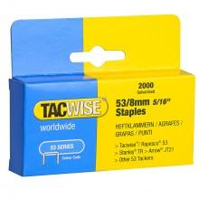 Tacwise :Série 54 Agrafes: 8mm : Boîte de 2000