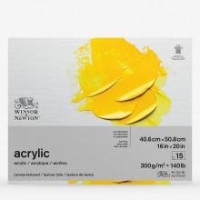 Winsor & Newton : Acrylic Pad : 300gsm : 15 Sheets : 16x20in (cm)