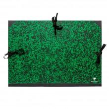 Clairefontaine :Pochette à Dessin Vert Marbré avec Ficelles : A2+ : 47x62cm