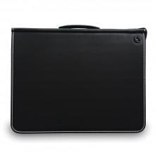 Mapac : A4 Premier Portfolio : Noir: Méchanime résistant : Paire de Lanière Solide : Lanière à Epaule