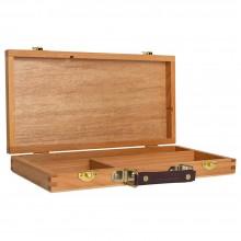 Boîte de rangement utilitaire en bois (vide): bois de hêtre 30 x 15,2 x 4. 5 cm
