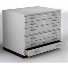 Vistaplan : Les Planchest traditionnels en bois: 6 tiroirs A1 disponible en gris : chêne clair