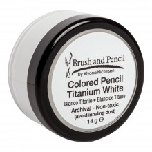 Brush and Pencil :Crayon de Couleurs Blanc de Titane