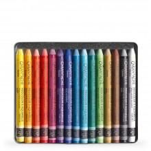 CARAN Dache NEOCOLOR II : Artistes aquarelle Crayons : 15 dans une boîte métallique
