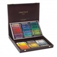 Caran d'Ache : Neocolor II : Crayon Aquarelle : 84 dans une Boite en Bois