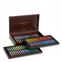 Caran d'Ache : Artist Neopastel : Luxury Wooden : Boite de 96 Couleurs Luxury Wooden Box With 96 Colours