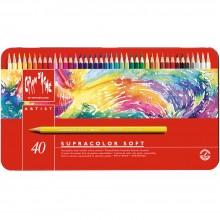 Caran d'Ache : Supracolor Soft :Crayon Soluble à l'Eau: Boite en Métal de 40: