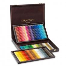 Caran d'Ache : Supracolor Soft :Crayon Soluble à l'Eau: Boite en Bois: Lot de 120