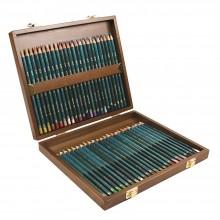 Derwent : Artists Crayons : Boite en Bois :  Lot de  48