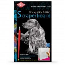 White Essdee Scraperboard : 229x152mm rame 10 feuilles