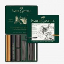Faber Castell : Pitt : Charcoal : Metal Tin Set of 24