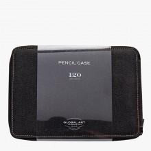 Global : Toile Style couleur noire Pencil Case détient 120