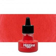 Higgins : Pigmented Ink : Waterproof : 1oz (29.6ml) : Red