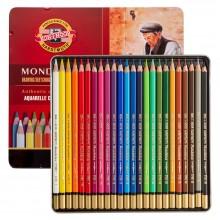Koh-I-Noor : Mondeluz : Crayons de Couleurs Aquarelles 3724 : Lot de 25