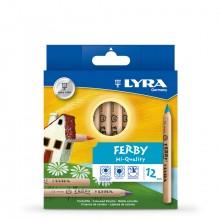 Lyra :Crayons de Couleurs ' Ferby Natural'  : Boite de 12