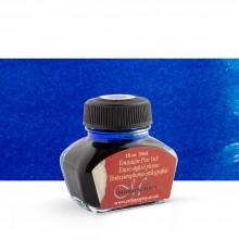 Manuscrit : Calligraphie encre 30ml: non étanches - pour stylos : bleu
