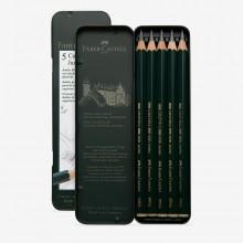Faber Castell :Série 9000 : Crayon : Jumbo Lot de  5