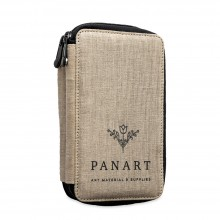 Panart : Linen Pencil Case : Holds 48 Pencils