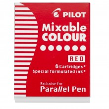 Pilot : Parallel Stylo à Ecriture : Lot de  6 Cartourche d'Encre : Rouge