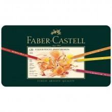 Faber Castell :Crayon Polychrome : Boite en Métal de 120: