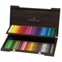 Faber Castell :Crayon Polychrome : Boite en Bois Lot de 120: