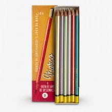 Viarco :Crayon Vintage : Boîte Dorée : Lot de 12 HB