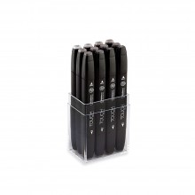 ShinHan :Touch Twin : Lot de 12 Stylos-Marqueurs : Warm Grey