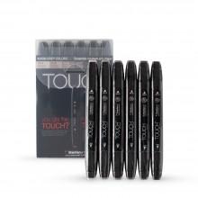 ShinHan :Touch Twin : Lot de 6 Stylos-Marqueurs: Warm Grey Tones A