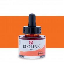 Royal Talens : Ecoline : Encre Liquide Aquarelle : 30ml : Vermilion