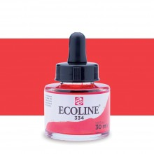 Talens : Ecoline : Liquid Watercolour Ink : 30ml : Scarlet