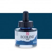Royal Talens : Ecoline : Encre Liquide Aquarelle : 30ml : Indigo