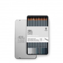 Winsor & Newton :Studio Collection : Crayons de Couleur Mine Souple : Lot de 24