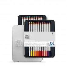 Winsor & Newton : Studio Collection : Soft Core Watercolour Pencil : Set of 24