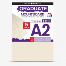 Daler Rowney : Graduate: Panneau de Montage A2: Ivory : Lot de 5