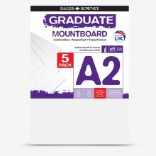 Daler Rowney : Graduate: Panneau de Montage A2: Ice White : Lot de 5