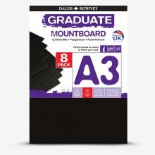 Daler Rowney : Graduate: Panneau de Montage A3: Black : Lot de 8