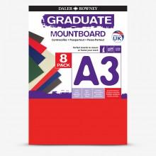 Daler Rowney : Graduate: Panneau de Montage A3: Assorted : Lot de 8