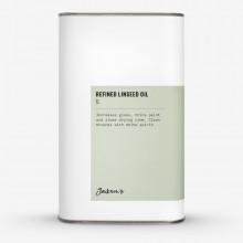Jacksons huile moyenne : Raffiné l'huile de lin 1 Litre - artiste ' alcali s raffiné