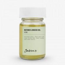 Jacksons huile moyen : Huile de lin raffinée 60ml